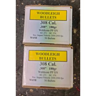 Woodleigh 308cal 180gn projectiles