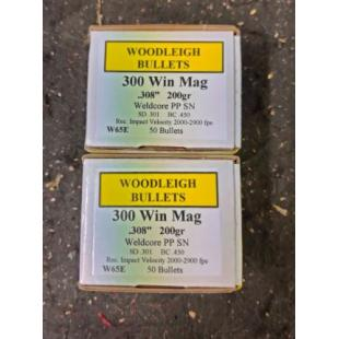Woodleigh 300win mag 200gn projectiles