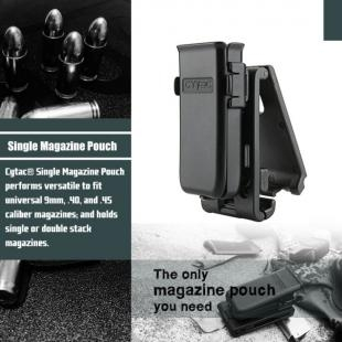 Cytac Universal Single Pistol Magazine Pouch - Colour Black - New